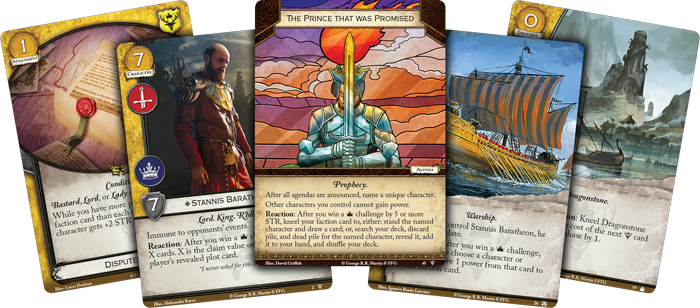 Game of Thrones Card Game – Fury of the Storm game cards