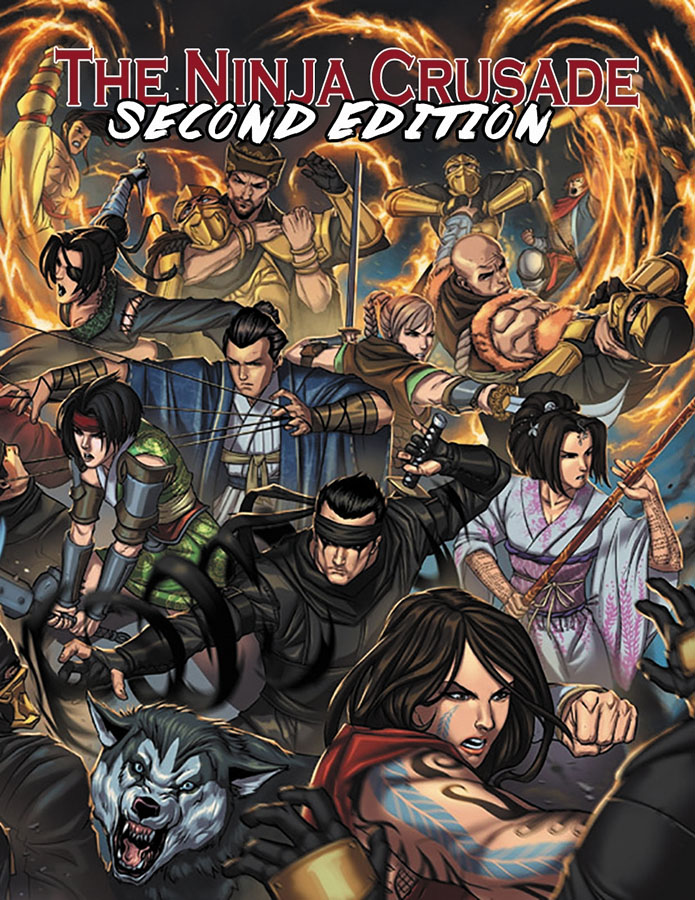 The Ninja Crusade 2nd Edition (hardcover) Box Front