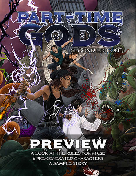 Part-time Gods Rpg Second Edition Game Box