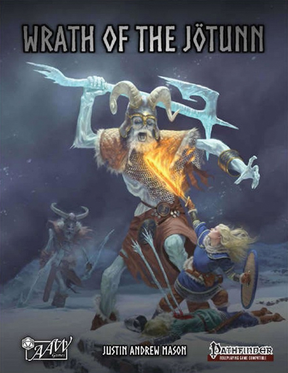 Pathfinder Rpg: Into The Wintery Gale - Wrath Of The Jotunn (hardcover) Box Front