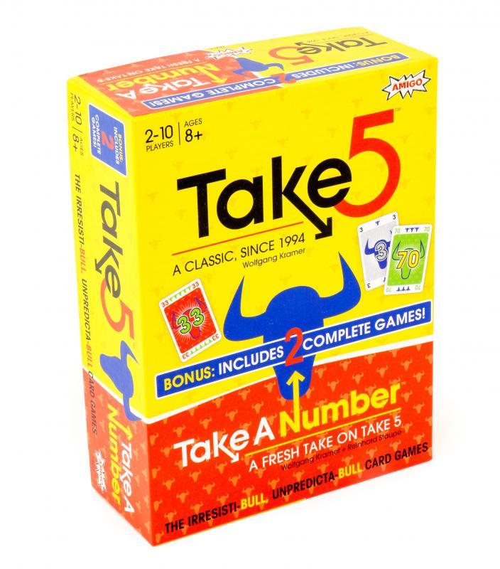 Take 5/ Take A Number Bonus Pack Demo Game Box