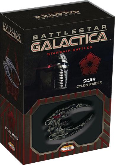 Battlestar Galactica: Starship Battles - Spaceship Pack: Scars Cylon Raider Game Box