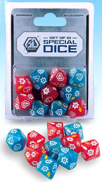 Galaxy Defenders: Set Of 10 Special Dice Box Front