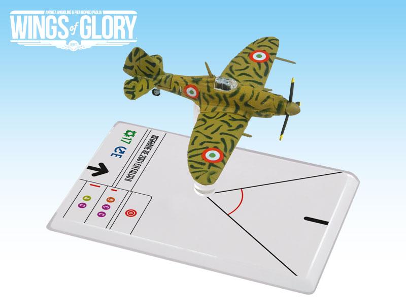 Wings Of Glory: 2x3 Reggiane Re. 2001 Falco Ii Cerretani Box Front
