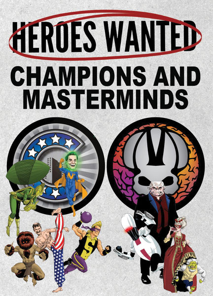 Heroes Wanted: Champions And Masterminds Expansion Box Front