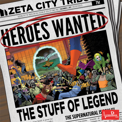 Heroes Wanted: The Stuff Of Legend Expansion Box Front