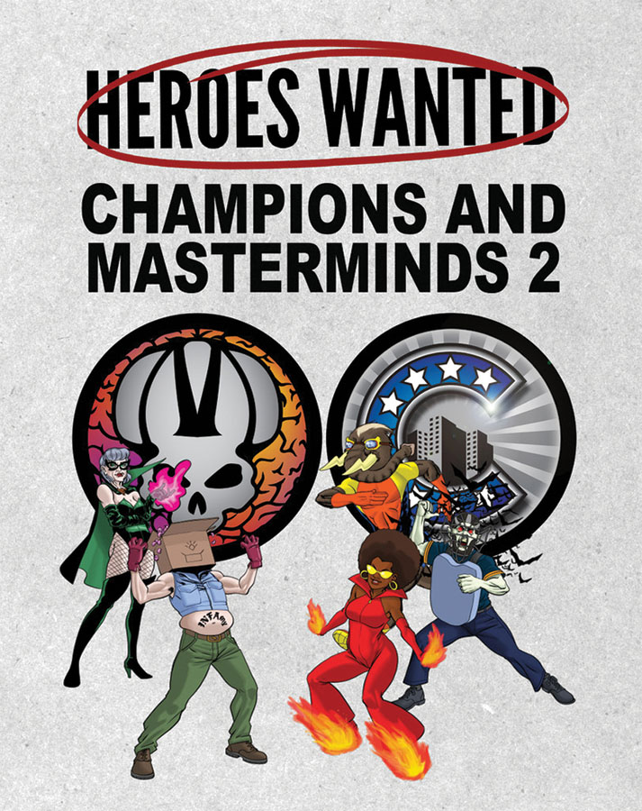 Heroes Wanted: Champions And Masterminds 2 Expansion Box Front