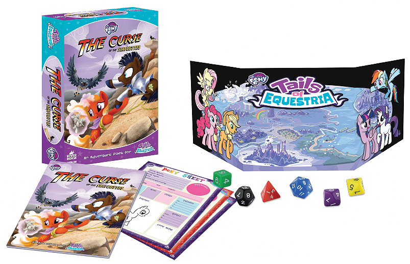 My Little Pony: Tails Of Equestria Rpg - The Curse Of The Statuettes Adventure Story Box Set Game Box