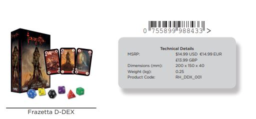 Frazetta D-dex Card Game Game Box