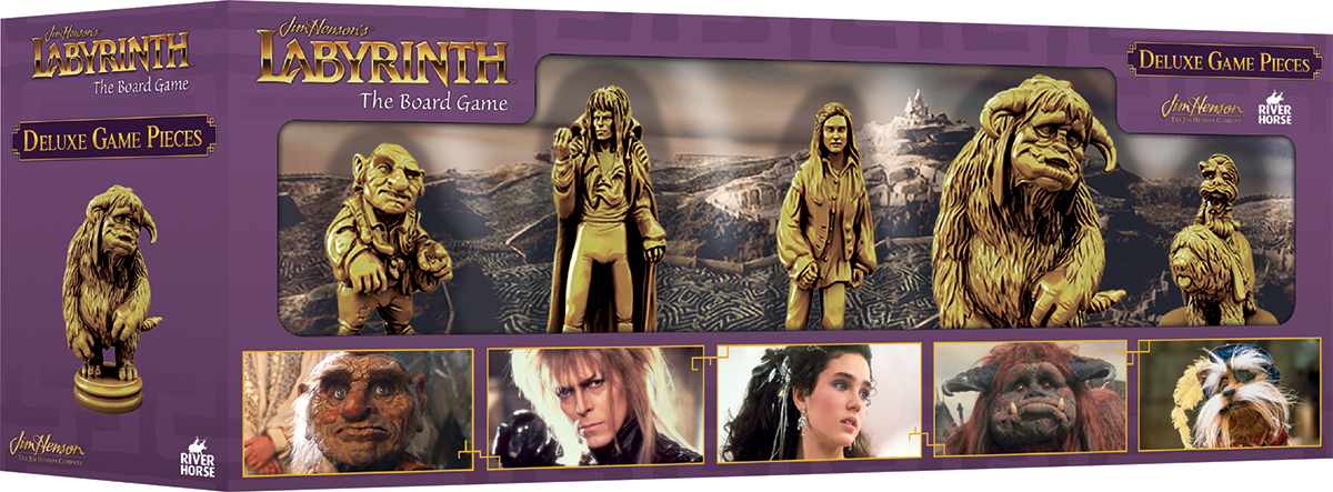 Jim Henson`s Labyrinth: The Board Game Deluxe Game Pieces Box Front