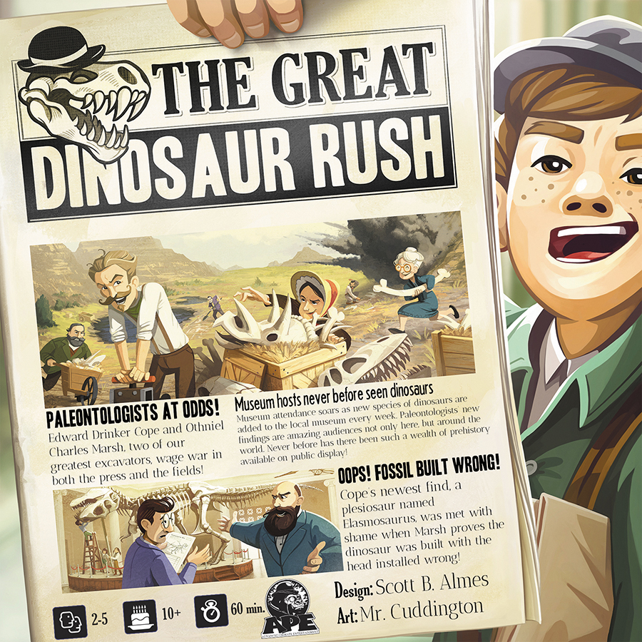 The Great Dinosaur Rush Box Front