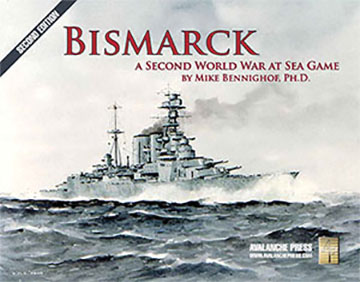 Second World War At Sea: Bismark Second Edition Game Box