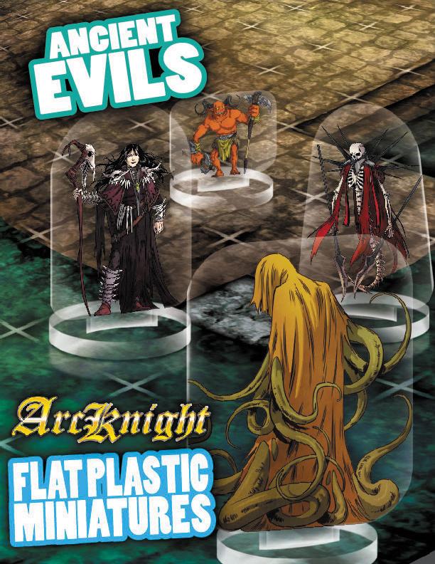 Flat Plastic Miniatures: Ancient Evils Box Front