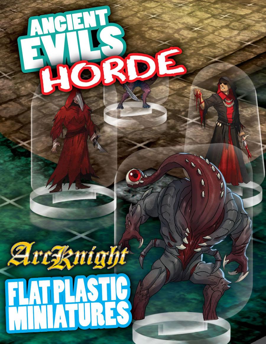Flat Plastic Miniatures: Ancient Evils Hord (31pc)