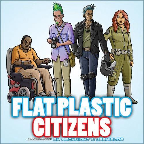 Flat Plastic Miniatures: Civilians Box Front