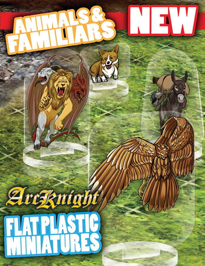 Flat Plastic Miniatures: Animals And Familiars Box Front