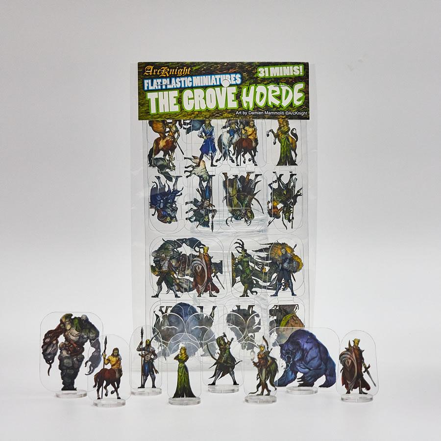 Flat Plastic Miniatures: The Grove Horde (31pc)