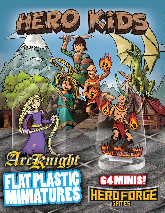 Flat Plastic Miniatures: Hero Box Front