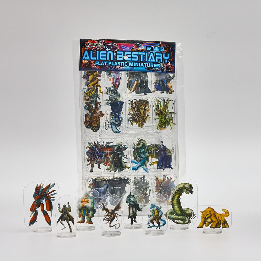 Flat Plastic Miniatures: Legendary Games - Alien Bestiary (62pc)