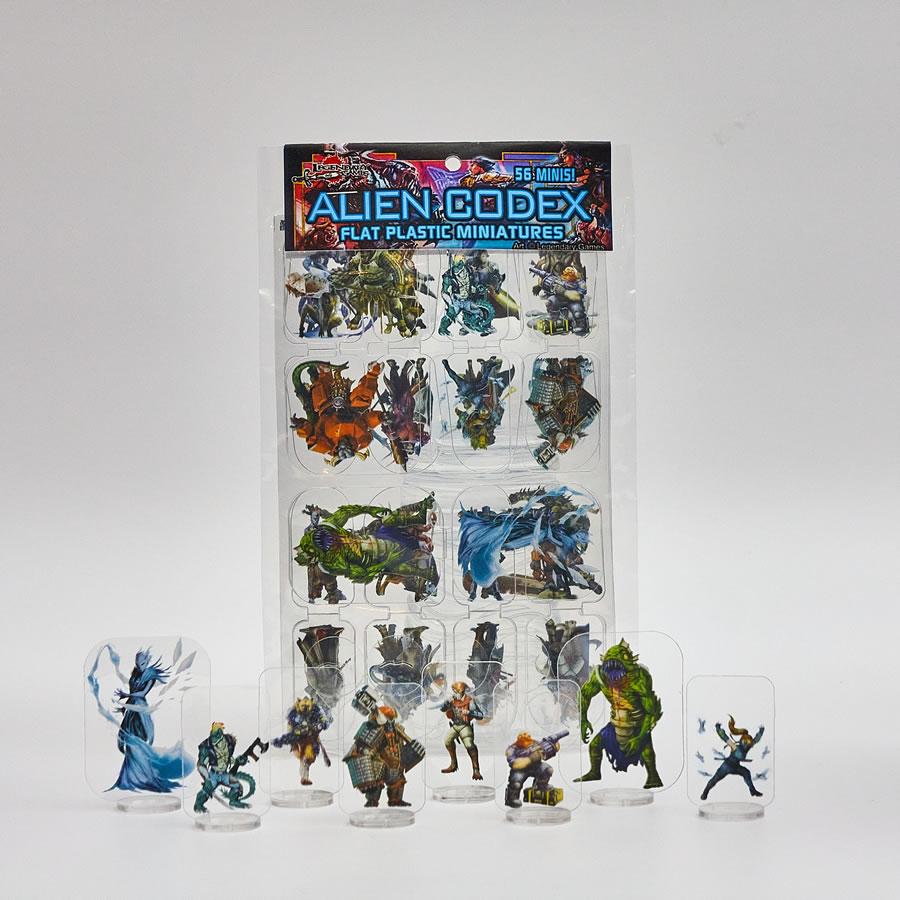 Flat Plastic Miniatures: Legendary Games - Alien Codex (56pc)