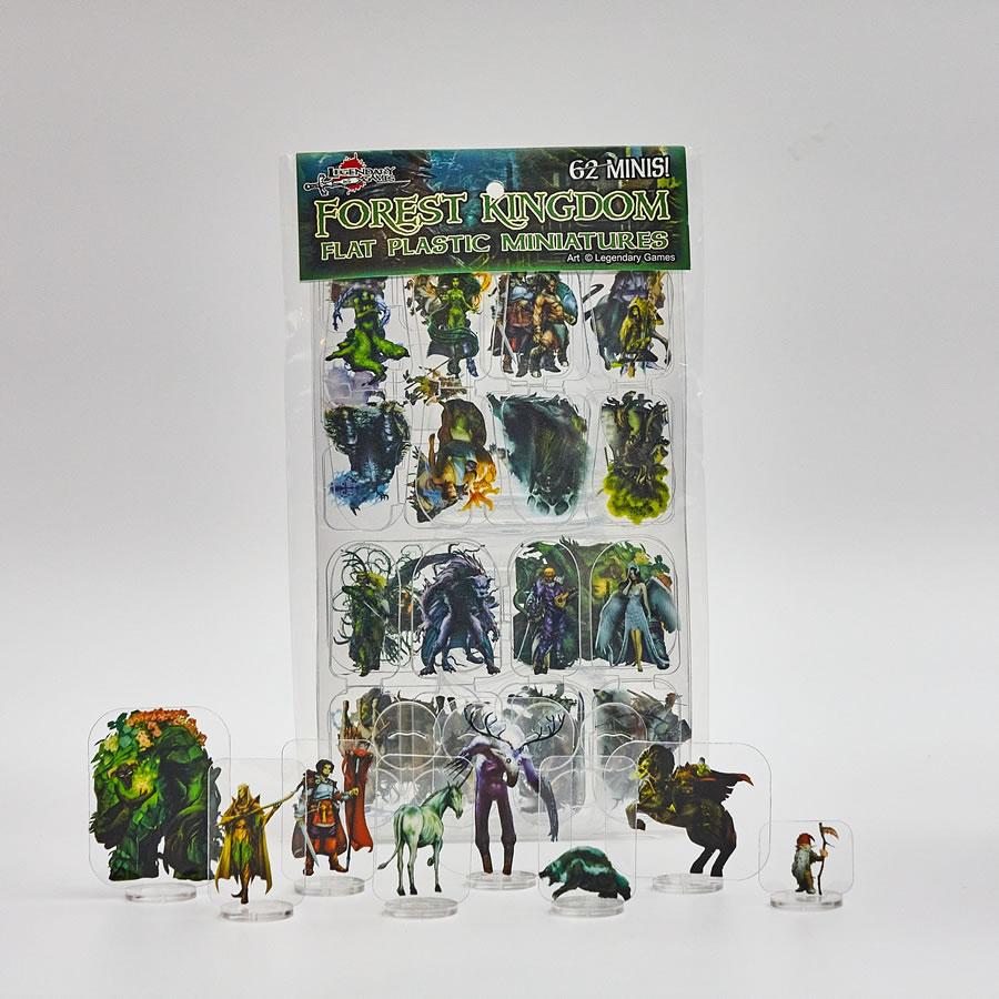 Flat Plastic Miniatures: Legendary Games - Forest Kingdoms (62pc)