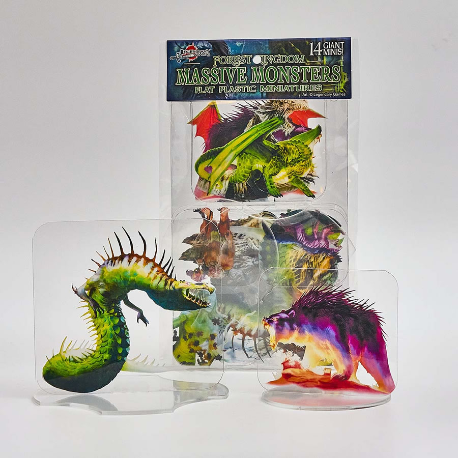 Flat Plastic Miniatures: Legendary Games - Forest Kingdoms Massive Monsters (14pc)