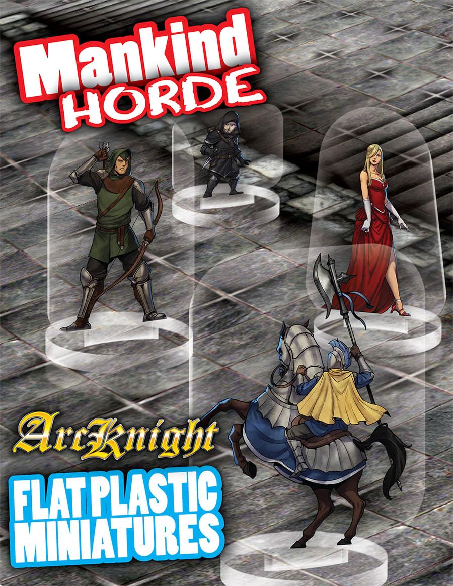 Flat Plastic Miniatures: Mankind Horde (31pc)
