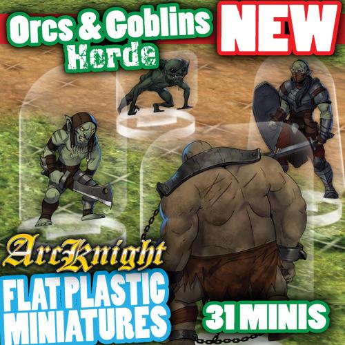 Flat Plastic Miniatures: Orcs & Goblins Horde Box Front