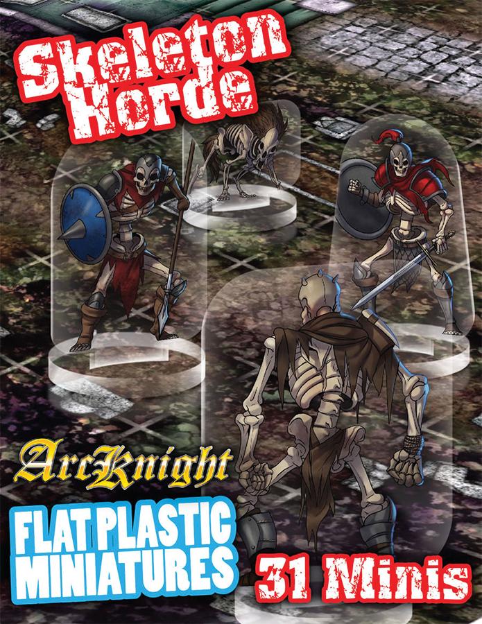 Flat Plastic Miniatures: Skeletons Horde Box Front