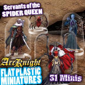 Flat Plastic Miniatures: Spider Queens Horde Game Box