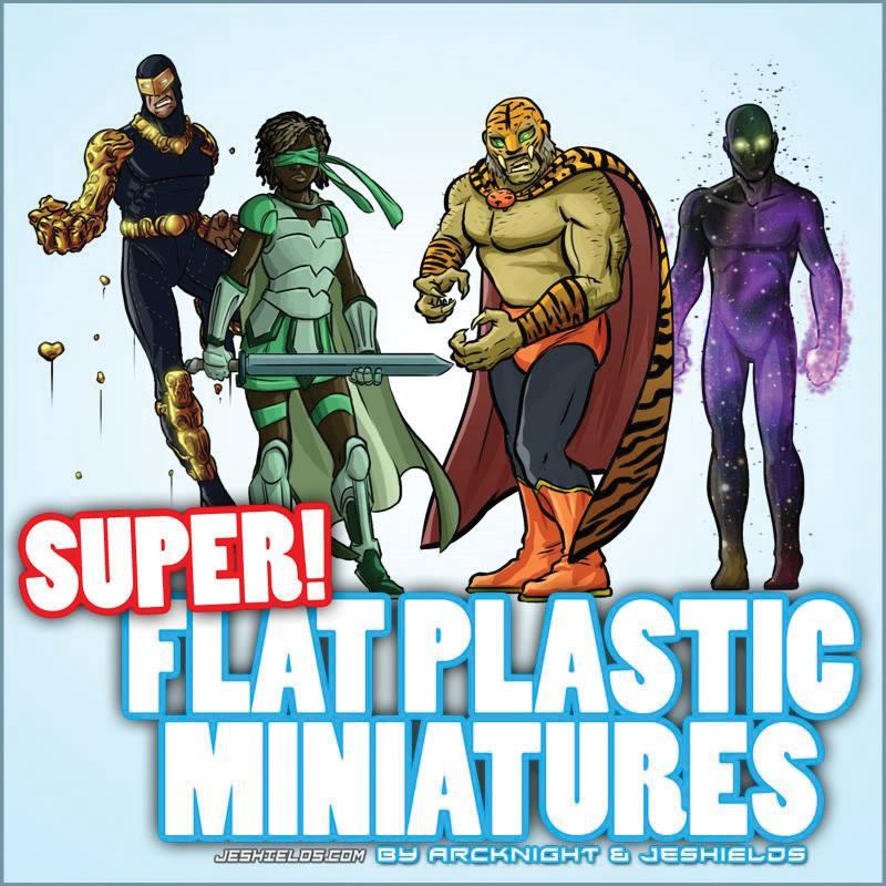 Flat Plastic Miniatures: Supers Box Front