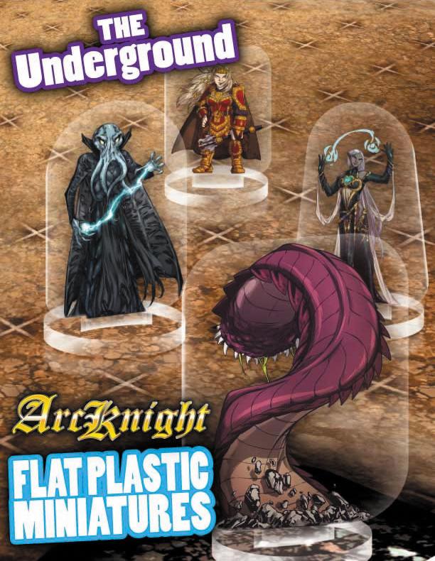 Flat Plastic Miniatures: Underground Box Front
