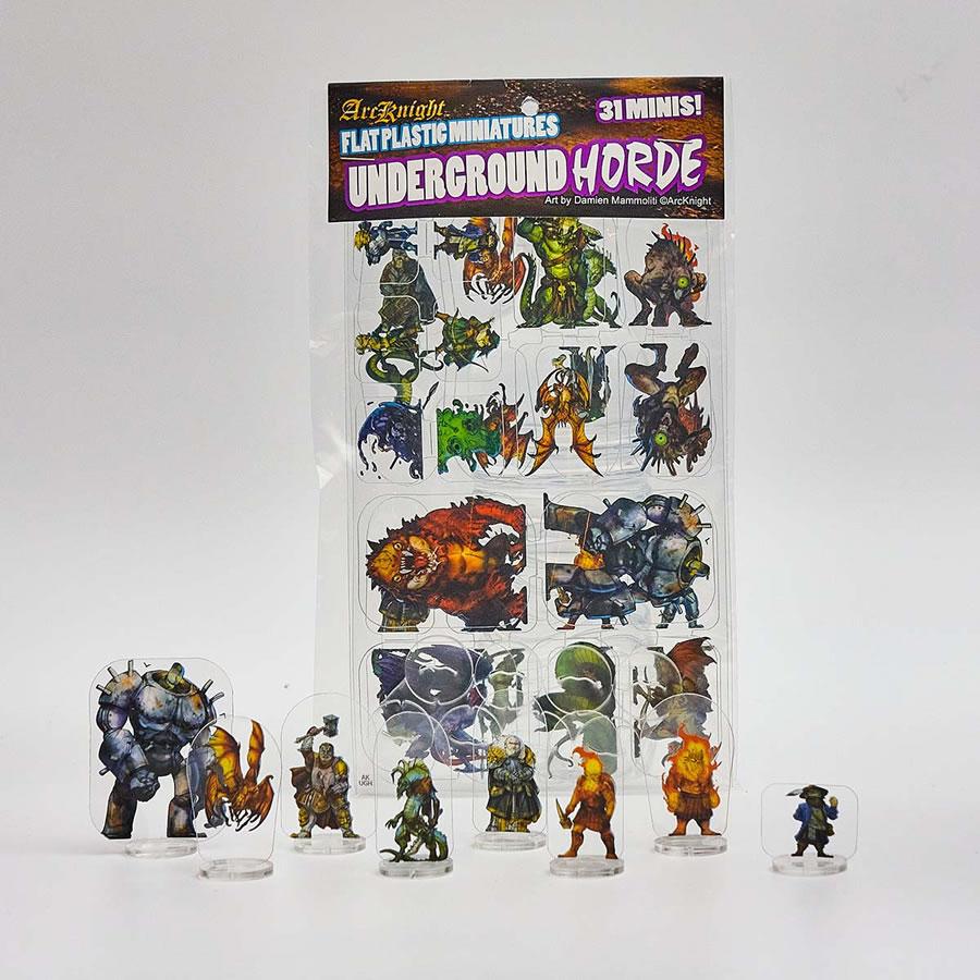 Flat Plastic Miniatures: Underground Horde (31pc)