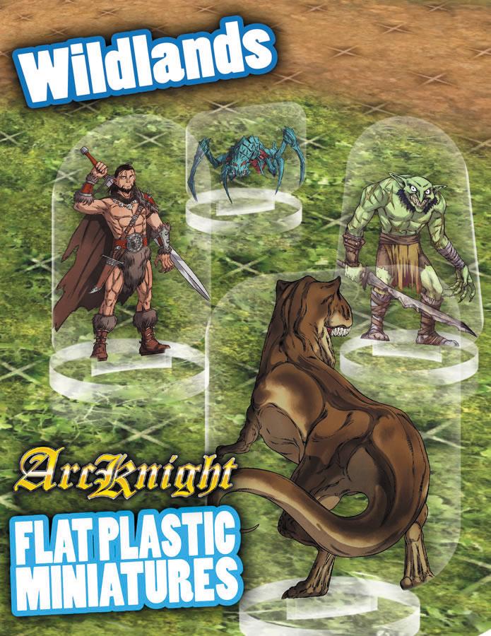 Flat Plastic Miniatures: Wildlands Box Front