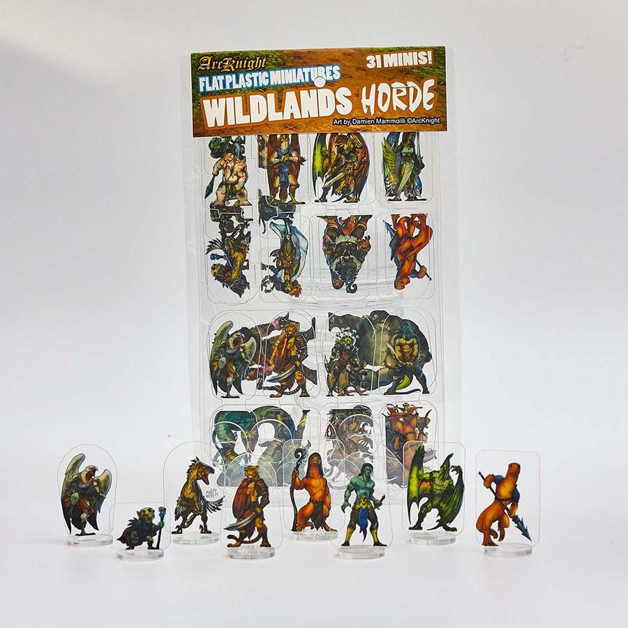 Flat Plastic Miniatures: Wildlands Horde (31pc)