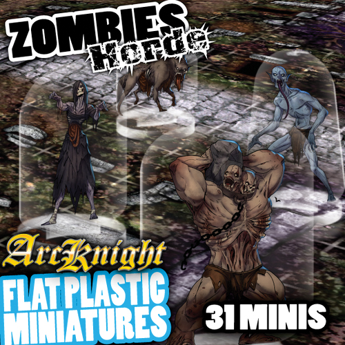 Flat Plastic Miniatures: Zombies Horde Box Front