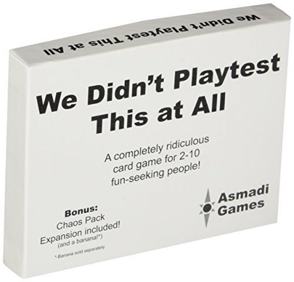 We Didnt Playtest This At All Box Front