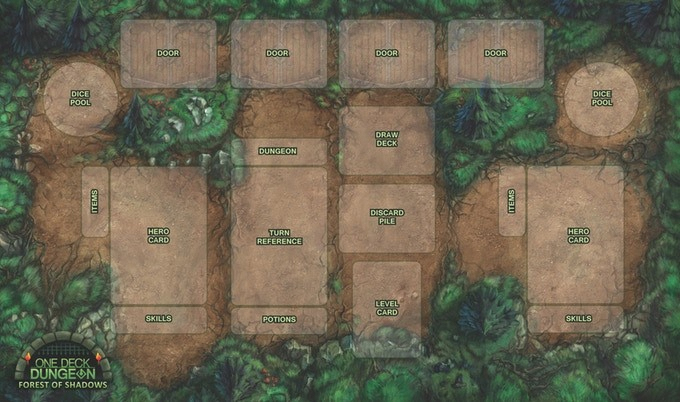 One Deck Dungeon: Playmat Box Front