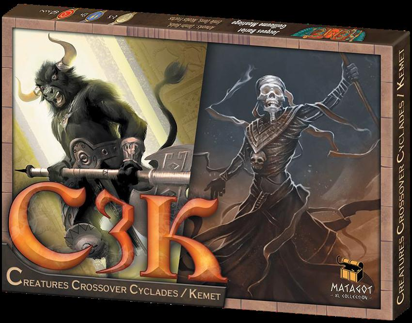 C3k: Creatures Crossover Cyclades / Kemet Box Front