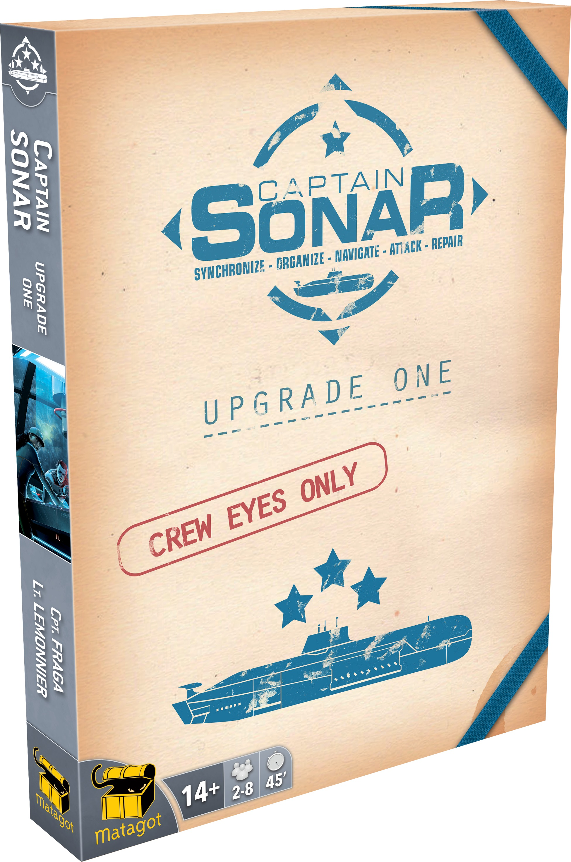 Captain Sonar: Upgrade 1 Expansion Box Front