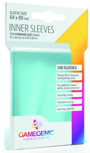 Inner Sleeves: Standard 64mm X 89mm (100)