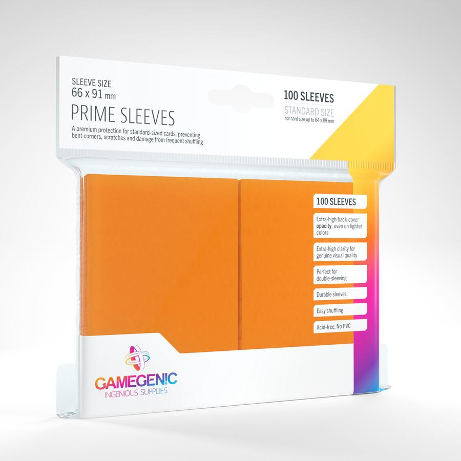 Prime Sleeves: Orange - Standard 66mm X 91mm (100)