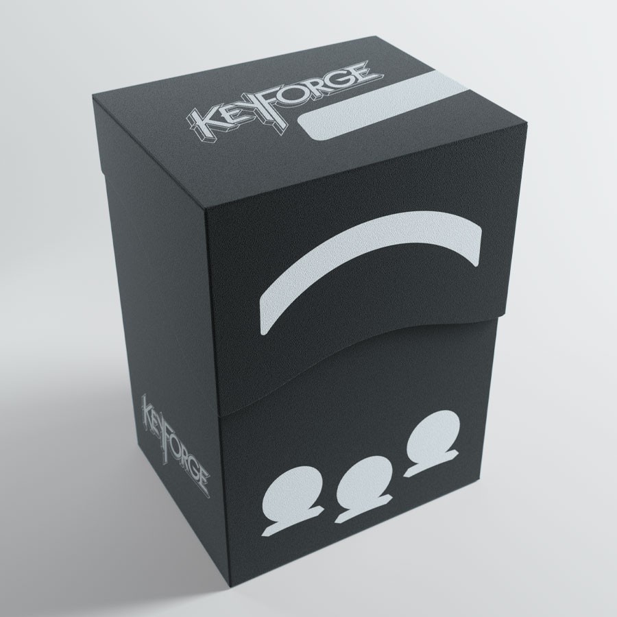 Keyforge: Gemini Deck Box - Black Game Box