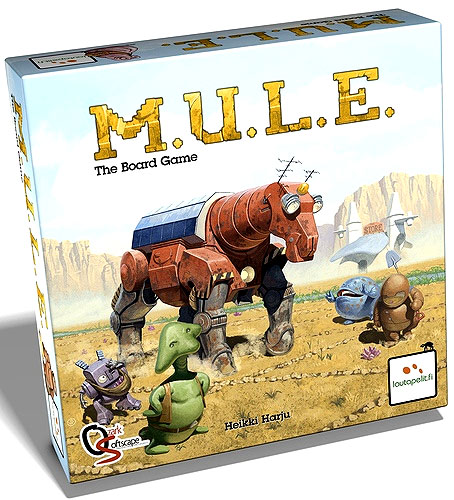 M.u.l.e. The Board Game Box Front