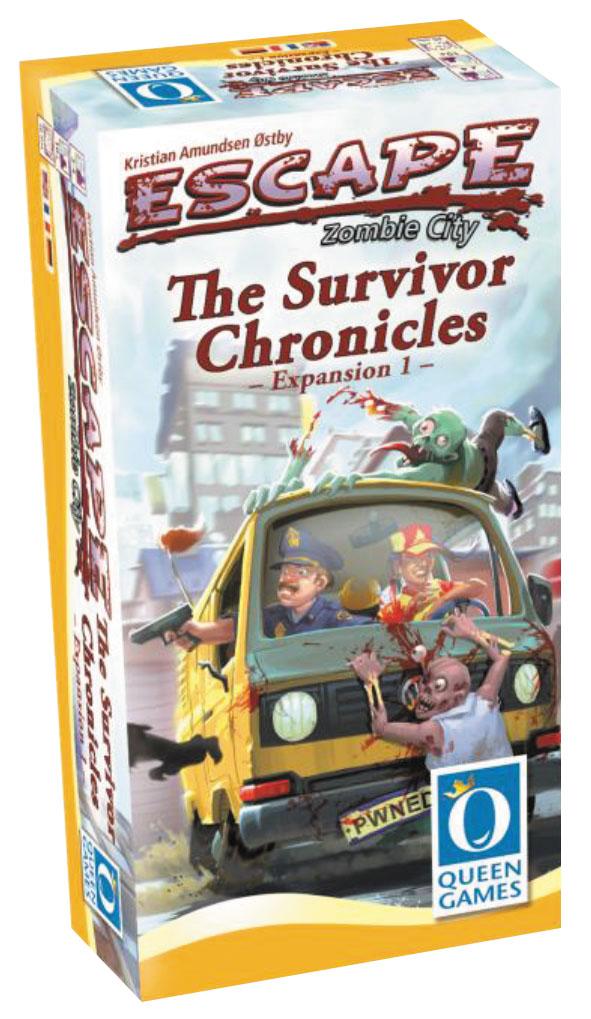 Escape: Zombie City - The Survivor Chronicles Expansion 1 Box Front
