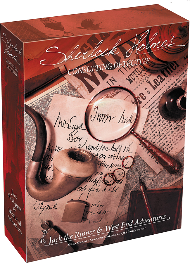 Sherlock Holmes: Consulting Detective - Jack The Ripper And West End Adventures (stand Alone Or Expansion) Box Front