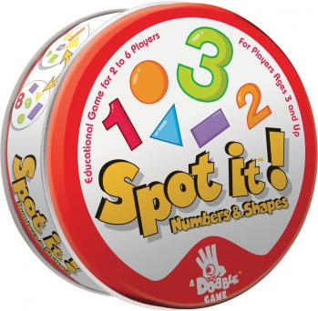 Spot It!: Numbers And Shapes Expansion Game Box