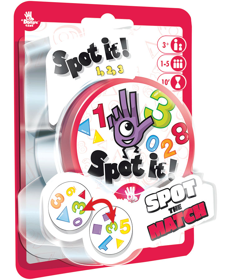 Spot It!: 123 (peg/blister) Game Box
