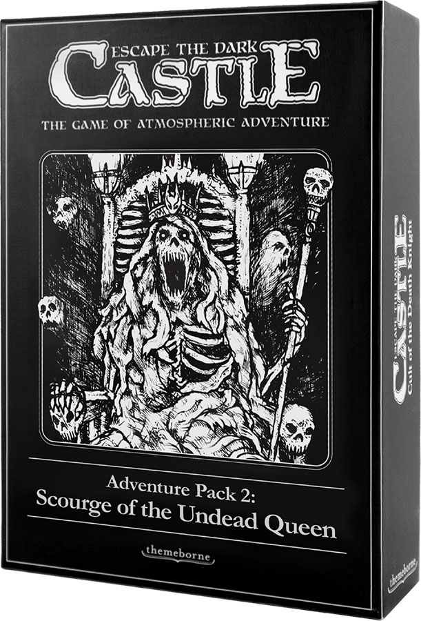 Escape The Dark Castle: Scourge Of The Undead Queen Expansion Game Box