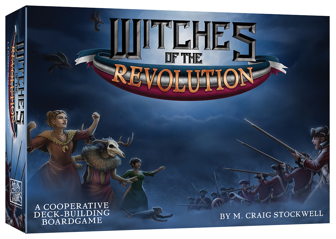 Witches Of The Revolution Deckbuilding Game Box Front